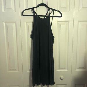 High Neck Open Back Dress